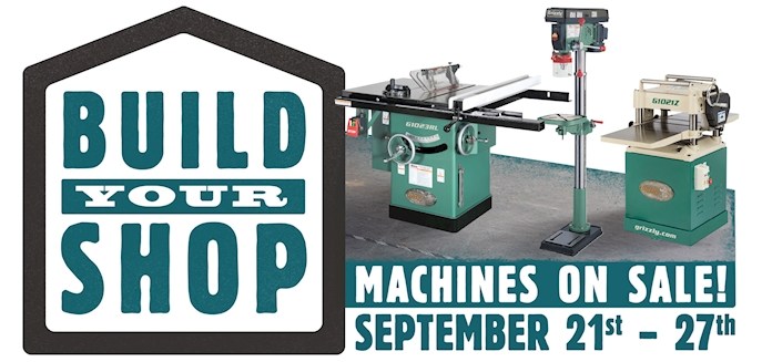 Build Your Shop Machine Sale On Now