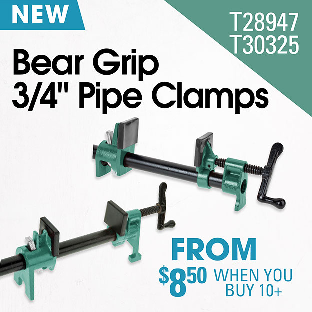 Bear Grip Pipe Clamps
